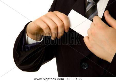 Business Card From Inner Pocket