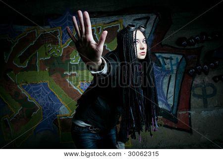 Pretty Cyber Gothic Girl