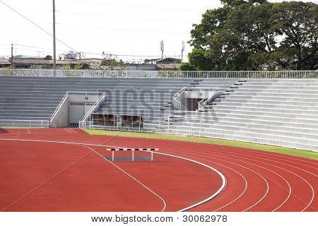Curve of Race Track in Stadium