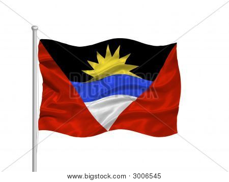 Antigua And Barbuda Flag 2