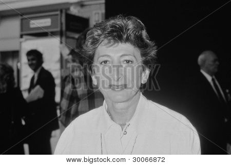 BLACKPOOL, ENGLAND - OCTOBER 10: Lady Shirley Porter, Conservative party Leader of Westminster City Council, attends the party conference on October 10, 1989 in Blackpool, Lancashire.