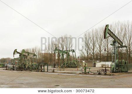 Oilfield In Operation