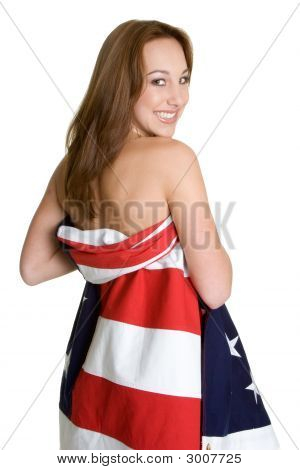 Flag Wrapped Woman