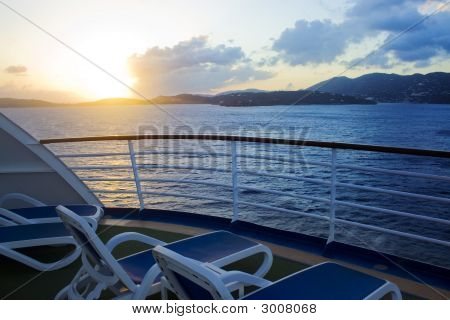 Karibik Kreuzfahrt-Sonnenuntergang