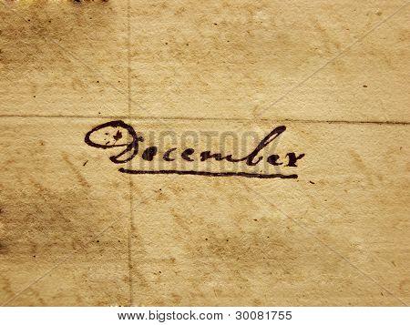 Handwritten December