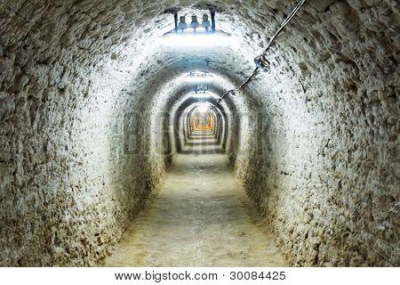 Abstract image of Turda Salt Mine, Romania, Europe
