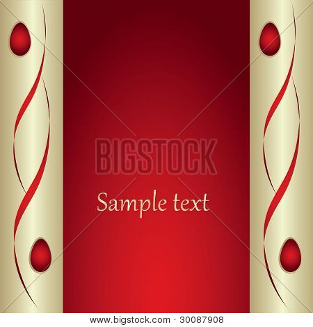 Red Background With Decorative Banner