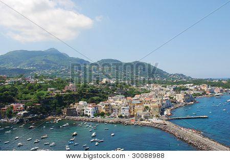 Panoramic view of Ischia islad