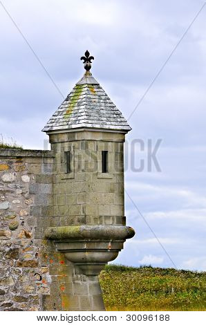 Turret At Fortress Of Louisbourgh