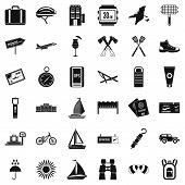 Navigation Icons Set. Simple Style Of 36 Navigation Icons For Web Isolated On White Background poster