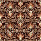 Greek Geometric Ornamental Vibrant Vector Seamless Pattern. Patterned Modern Geometrical Background. poster