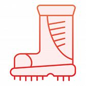 Boots Flat Icon. Working Boots Red Icons In Trendy Flat Style. Protective Footwear Gradient Style De poster