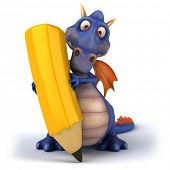 stock photo of dragon head  - Blue dragon - JPG