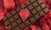 Chocolate With Rose Petals poster