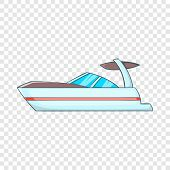 Sailing Boat Icon. Cartoon Illustration Of Sailing Boat Vector Icon For Web poster