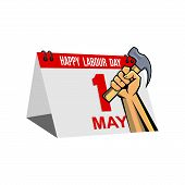 Happy Laboyr Day Vector On White Background, Vector Illustration Happy Labour Day Celebration, 1 May poster