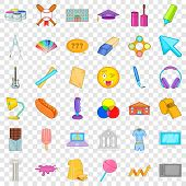College Icons Set. Cartoon Style Of 36 College Vector Icons For Web For Any Design poster