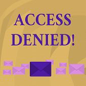 Word Writing Text Access Denied. Business Concept For Error Message Shown When You Do Not Have Acces poster