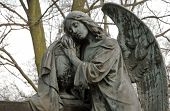 picture of polonia  - angel statue on Old Powazki cemetery in Warsaw Poland - JPG