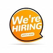 Job Vacancy, We Are Hiring Now. Hr Team Recruit Employee Concept. Career Job Vacancy Intervew Offer poster