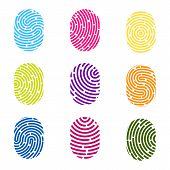 Creative Vector Illustration Of Fingerprint. Art Design Finger Print. Security Crime Sign. Abstract  poster