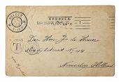 Постер, плакат: Винтажные открытка послал в 1900 году из США