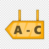 Signboard In Warehouse Icon. Cartoon Illustration Of Signboard Vector Icon For Web Design poster