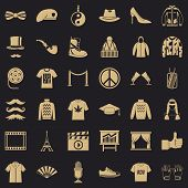Style Icons Set. Simple Style Of 36 Style Vector Icons For Web For Any Design poster