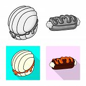 Vector Design Of Confectionery And Culinary Symbol. Set Of Confectionery And Product Stock Vector Il poster