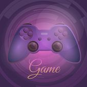 Video Game Controller Concept Background. Cartoon Illustration Of Video Game Controller Concept Back poster