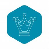 Princess Crown Icon. Outline Illustration Of Princess Crown Vector Icon For Web poster