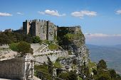 Historic Castle Of Venus In Erice Sicily, Southern Italy poster