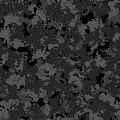 Urban Camouflage Of Various Shades Of Black And Grey Colors poster