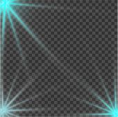 Blue Beautiful Light Explodes With A Transparent Explosion. Vector, Bright Illustration For Perfect  poster