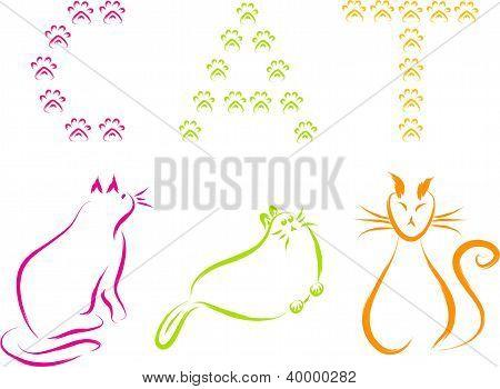 vector de gatos
