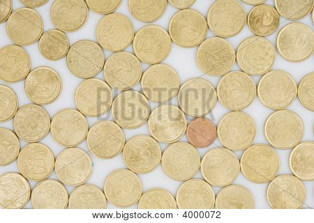 Many Coins Cents Euro