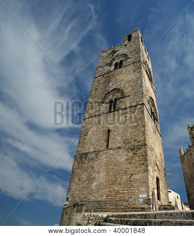 Medievel Catholic Church (fourteenth Century). Chiesa Matrice In Erice, Sicily.