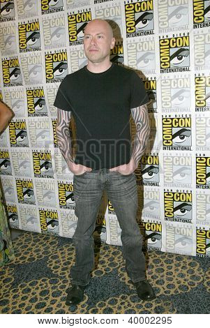 SAN DIEGO, CA - JULY 13: Steven S. DeKnight arrives at the 2012 Comic Con convention press room at the Bayfront Hilton Hotel on Friday, July 13, 2012 in San Diego, CA.