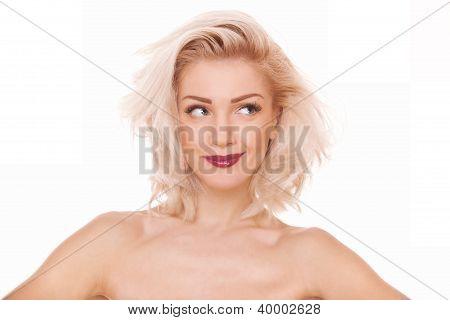 Playful Blonde Woman