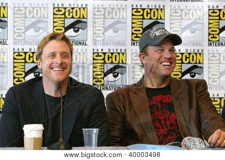 SAN DIEGO, CA - JULY 13: Alan Tudyk & Adam Baldwin in the  press conference for