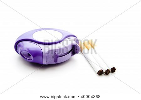 Inhaler with Cigarettes