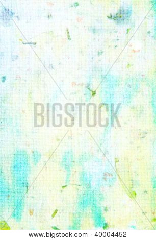 Spring-themed Abstract Textured Background: Blue, Yellow, And Green Patterns On White Backdrop