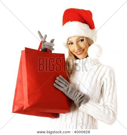 Shopping sexy Santa Claus Frau