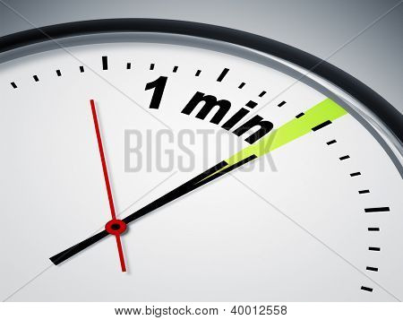 An image of a nice clock with 1 min