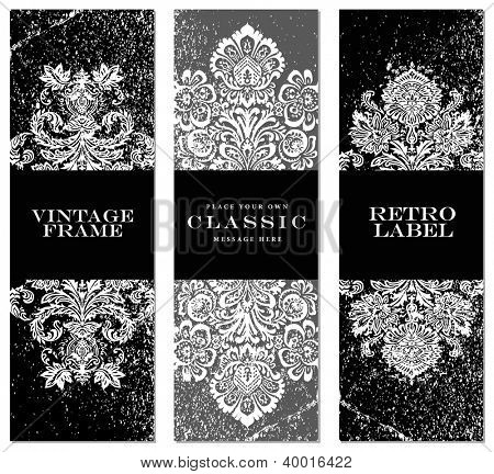 Vector Distressed Label Set. Easy to edit.