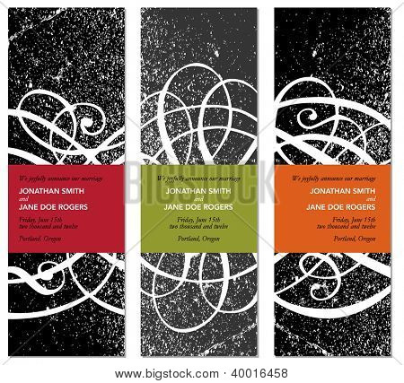 Vector Grunge Modern Frame Set. Easy to edit. Perfect for invitations or announcements.
