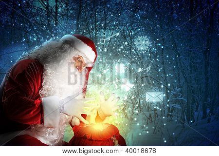 christmas theme with santa