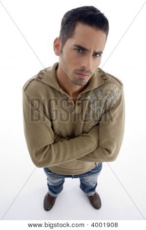 Full Pose Of Male Model Looking