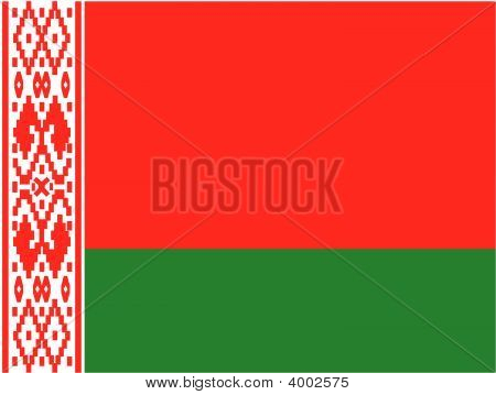 Byelorussia National Flag. Illustration On White Background