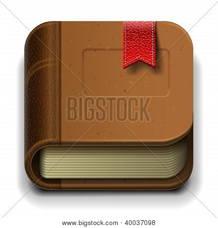 Book icon, vector illustration.
